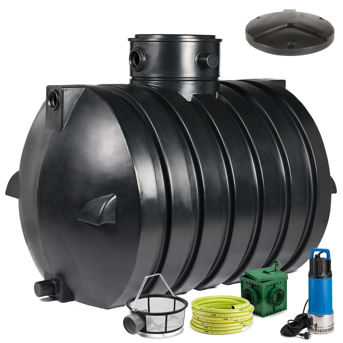 regenwassertank zisterne ozeanis 4000 l gartenanlage inkl pumpe deckel ebay. Black Bedroom Furniture Sets. Home Design Ideas