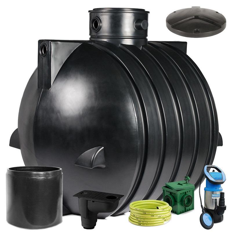 regenwassertank zisterne ozeanis 6000 l easy gartenanlage inkl pumpe deckel ebay. Black Bedroom Furniture Sets. Home Design Ideas