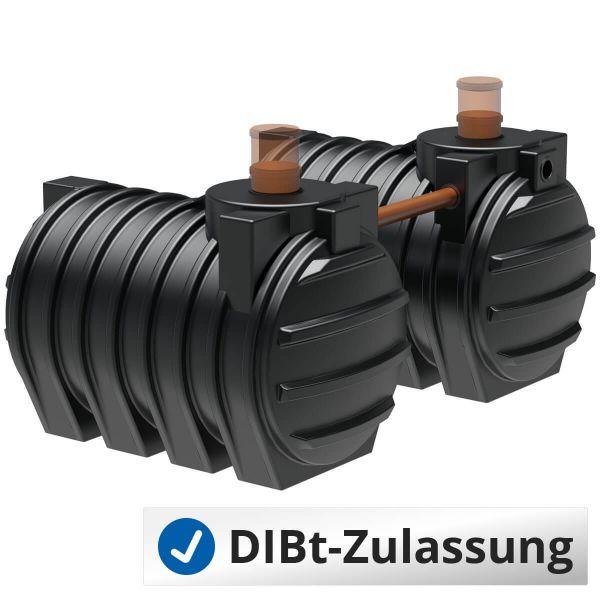 Abwassertank AQa.Line 6000Liter Duo (mit DIBt-Zulassung) - grundwasserstabil