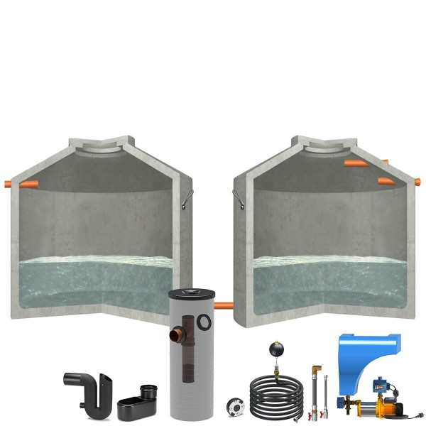 Regenwasseranlage Hydrophant 13700L Haus